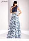 Clarisse Navy Lace and Floral Two Piece 3217
