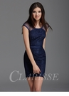 Clarisse Navy Lace Cocktail Dress 2940
