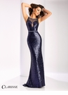 Clarisse Navy Sequin Prom Dress 3135