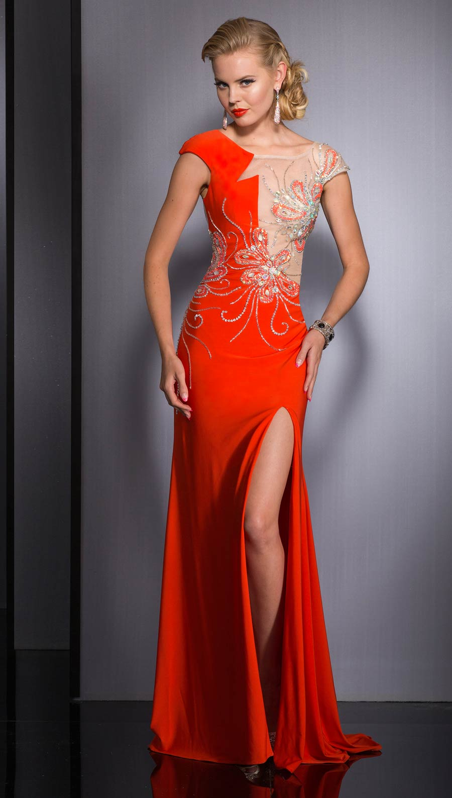 Clarisse Long Formal Prom Dress 2623 Promgirl Net