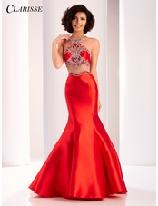 Clarisse Racer Back Mermaid Prom Dress 4861