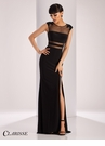 Clarisse Sheer and Lace Detail Prom Dress 3110