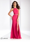 Clarisse Sparkling Cut Out Prom Dress 3046