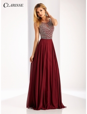 Clarisse Sparkling Embellished A-line Prom Dress 3167