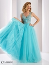 Clarisse Sparkling V-Neck Ball Gown 3019