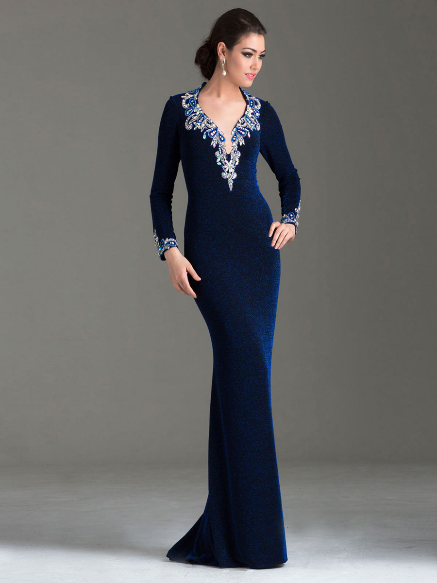Special occasion dress in royal blue M6145 - Promgirl.net