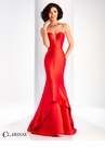 Clarisse Strapless Red Mermaid Dress 3096