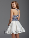 Clarisse White and Royal Homecoming Dress 2922
