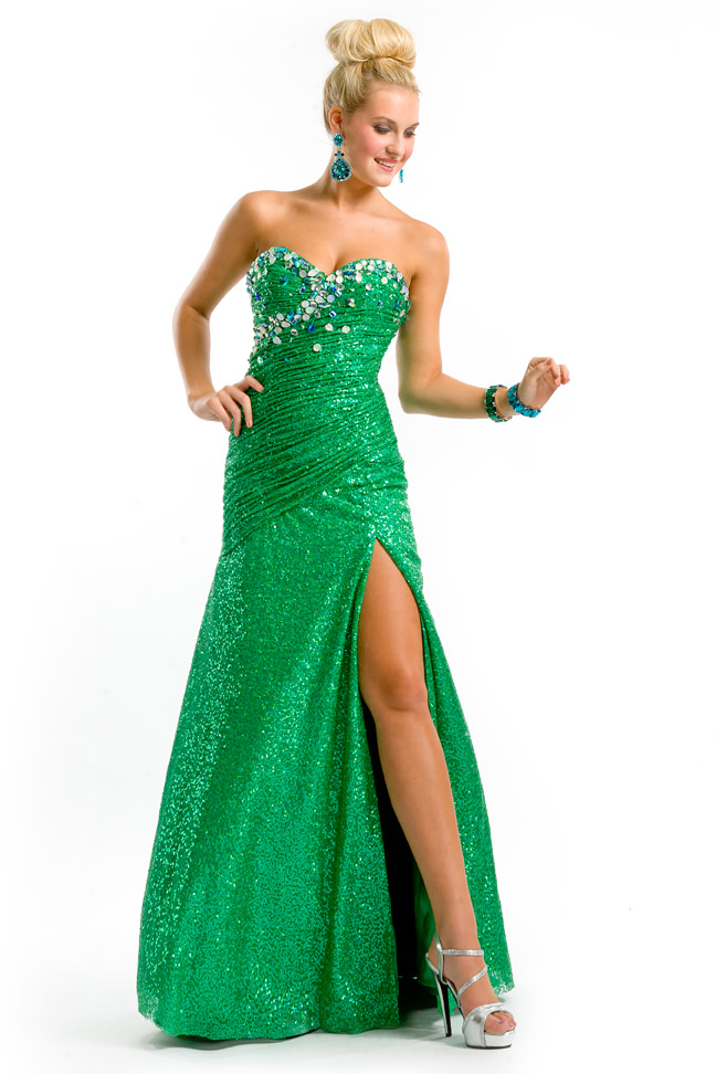 party time formals 2013 emerald green sweetheart strapless