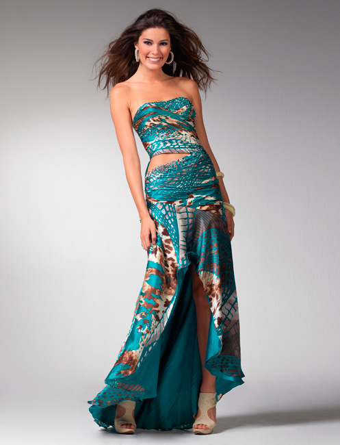 Clarisse Prom dress 1547 - Teal formal dresses - Prom gowns 2011