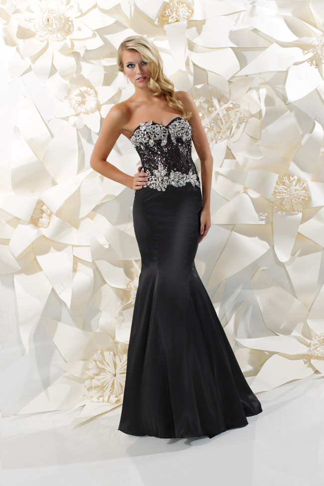 sparkle 2013 black and silver strapless sweetheart corset