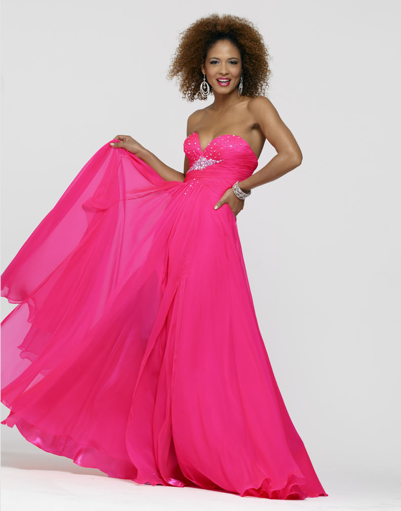 Clarisse 2013 Flamingo Pink Strapless Sweetheart Lace Up