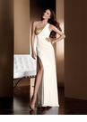 White and Gold Long 2012 Claudine dress 2043
