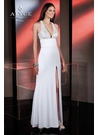 White and Silver 2013 Alyce Gown 35497