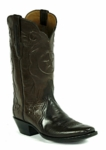 Men's Black Jack Florentine Buffalo- Chocolate Custom Boots 7128