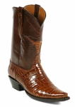 Mens Black Jack American Alligator Belly Cigar Custom Boots #184