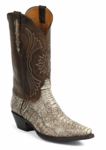 Mens Black Jack Antique Brown Ostrich Leg Custom Boots #783BRN