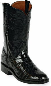 Mens Black Jack Boots Black Alligator Belly Custom Roper Boots 139