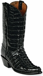 Mens  Black Jack Boots Black Alligator Tail Custom Boots 131