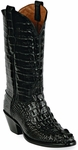 Mens Black Jack Boots Black Hornback Alligator Custom Boots 130