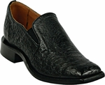 Mens Black Jack Boots Black Smooth Ostrich Mens Dress Shoes 4011