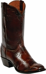 Mens Black Jack Boots Brown Brush off Goat Wingtip Custom Boots 1437