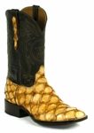 Mens Black Jack Boots Brown Maddog - Pirarucu Fish (Inverted)-Saddle Tan 682