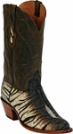 Mens Black Jack Boots Brown Tiger Stingray Custom Boots 308