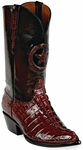 Mens  Black Jack Boots Burgundy Alligator Tail Custom Boots 185