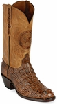 Mens Black Jack Boots Burnished Cigar Hornback Alligator Custom Boots 180