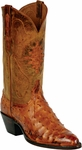 Mens Black Jack Boots Burnished Cognac Full Quill Ostrich Custom Boots 211