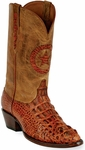 Mens Black Jack Boots Burnished Cognac Hornback Alligator Custom Boots 180