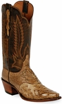 Mens Black Jack Boots Burnished Tan Full Quill Ostrich Custom Boots 227