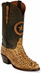 Mens Black Jack Boots Burnished Tan Hornback Alligator Custom Boots 180
