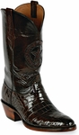 Mens Black Jack Boots Chocolate Alligator Belly Custom Boots 188