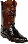 Mens Black Jack Boots Chocolate Alligator Belly Custom Roper Boots 198