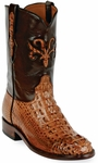 Mens Black Jack Boots Cigar Hornback Alligator Custom Roper Boots Montana Inlay 181
