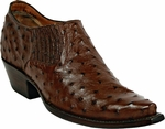 Mens Black Jack Boots Cigar Pin Ostrich Custom Shoe Boots 1001