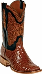 Mens Black Jack Boots Cognac Caiman Crocodile Belly Custom Boots HT-91
