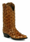 Mens Black Jack Boots Cognac Pirarucu Fish 689