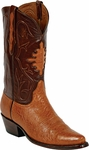 Mens Black Jack Boots Cognac Smooth Ostrich Custom Boots 213