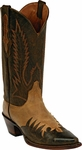 Mens Black Jack Boots Distress Goat Tan & Brown Wingtip Leather Custom Boots 421
