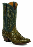 Mens Black Jack Boots Forrest Green - Pirarucu Fish Swamp Green 683