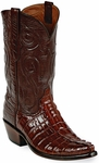 Mens Black Jack Boots Italian Red Alligator Tail Custom Boots 118