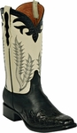 Mens Black Jack Boots Nappa Goat & Black Caiman Flank Wingtip Leather Custom Boots 1427