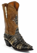 Mens Black Jack Boots Natural Alligator Tail Custom Boots NT-116