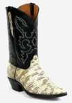 Mens Black Jack Boots Natural (Cream/Black) Teju Lizard Custom Boots 292