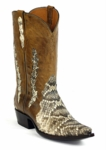 Mens Black Jack Boots Natural Eastern Rattle Snake Triad Custom Boots 600