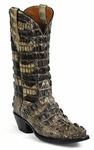 Mens Black Jack Boots Natural Hornback Alligator Custom Boots NT-130