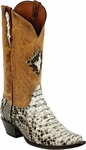 Mens Black Jack Boots Natural Python Snake Custom Boots 606
